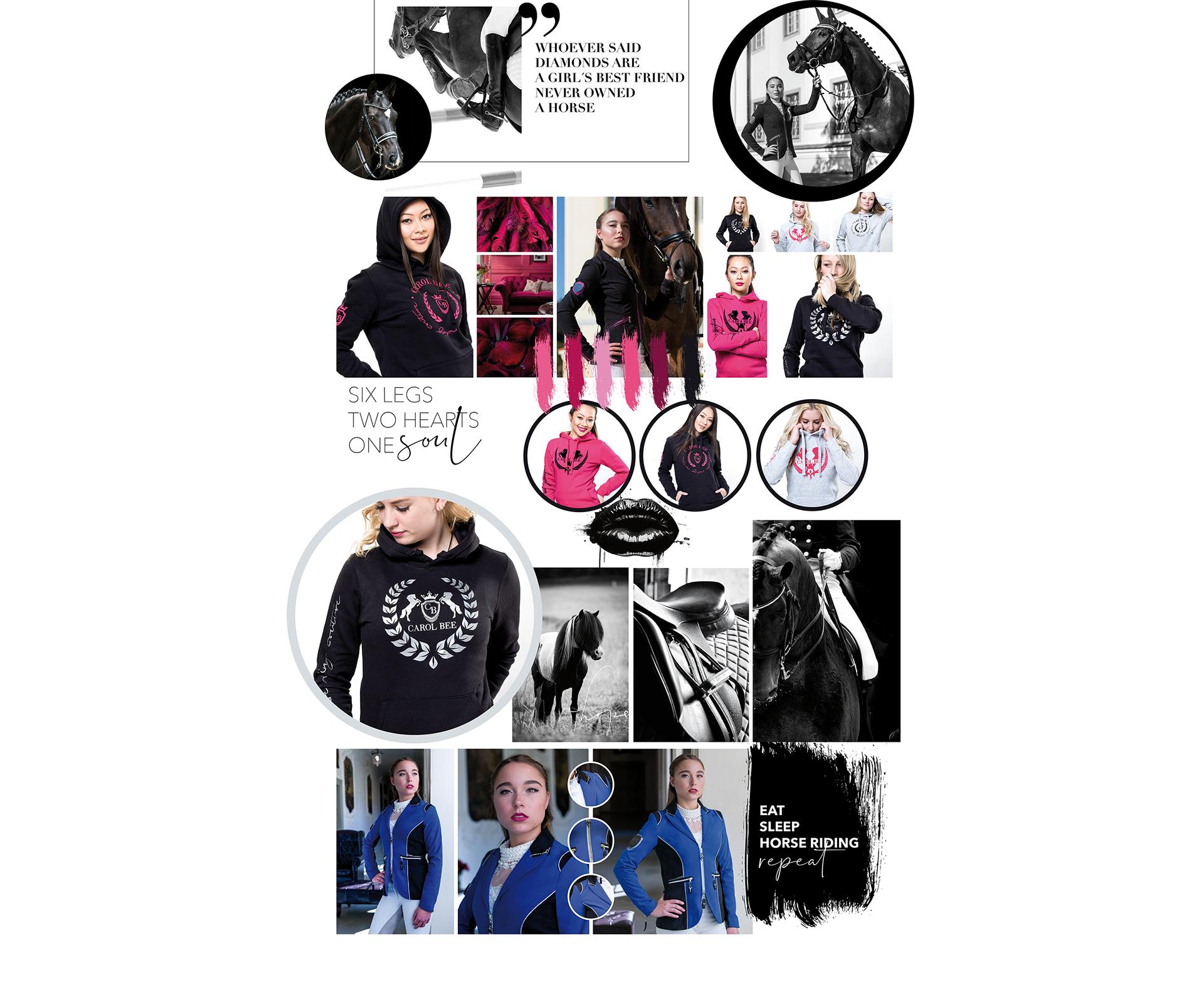 Aufregende Collage der neusten Trends, farbenfrohe Bilder